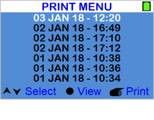 Money counter - Print menu